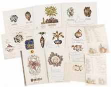 Prout (Samuel, 1783-1852).- Collection of ephemera from the family of Samuel Prout (1783-1852) and …