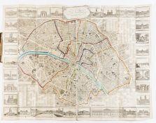 Paris.- Lécrivain, publisher. Nouveau plan de Paris divisé en 12 arrondissements..., engraved …