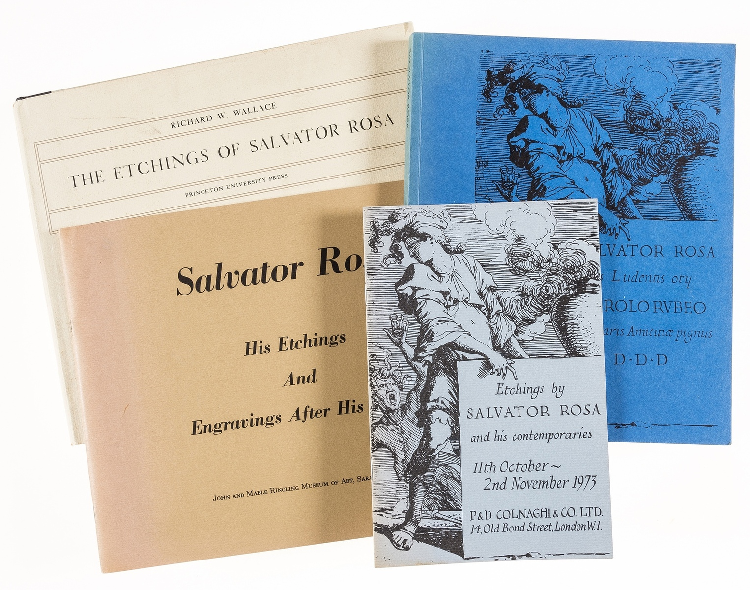 Wallace (Richard W.) The Etchings of Salvator Rosa, Princeton, NJ, 1979 & 3 catalogues on Rosa (4)