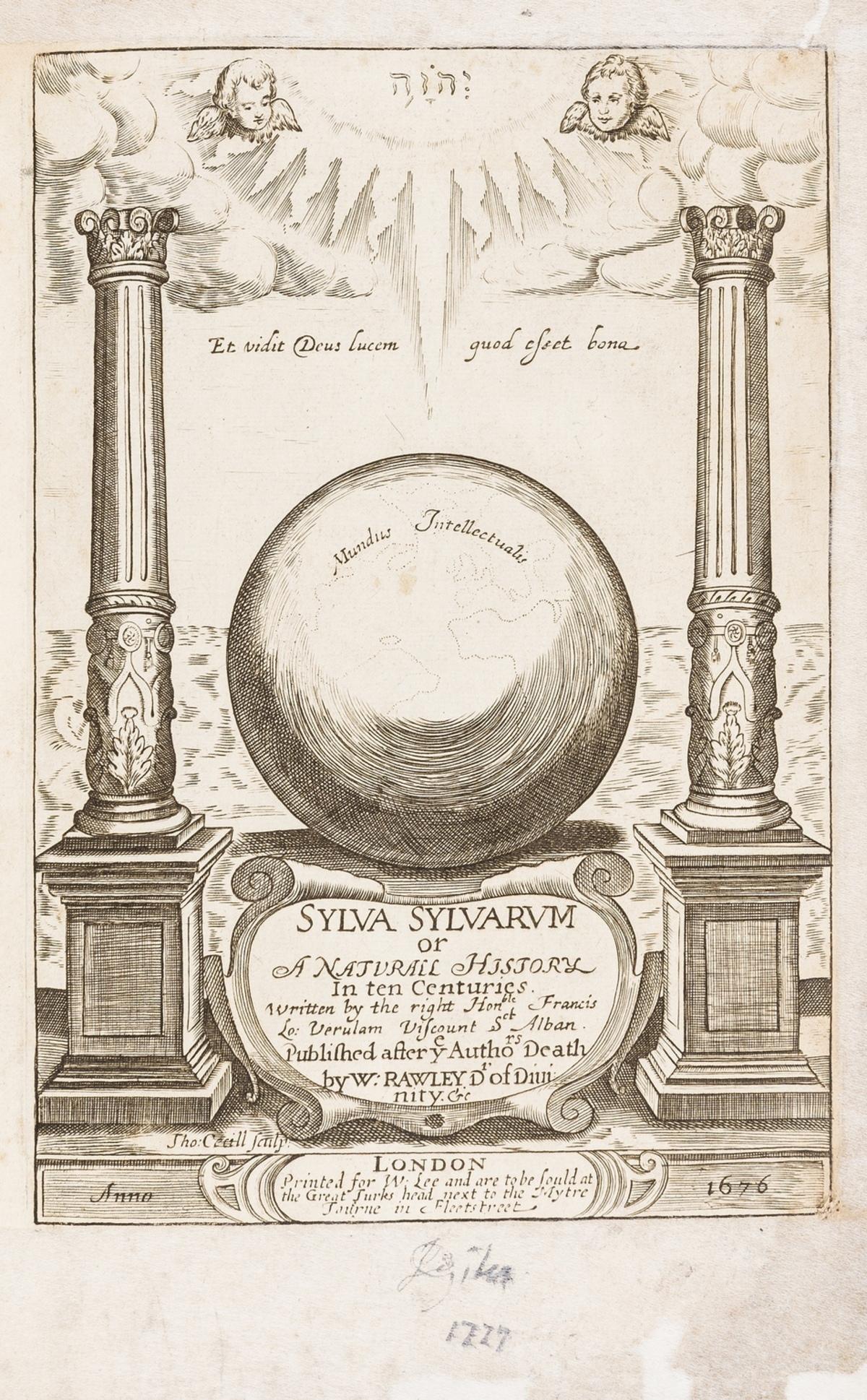 Bacon (Sir Francis) Sylva sylvarum: or A natural history, in ten centuries. Whereunto is newly …