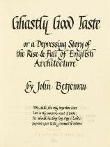 Betjeman (John) Ghastly Good Taste, manuscript copy in a neat hand, [c.1933].