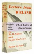 Auden (W.H.) and Louis MacNeice. Letters from Iceland, first edition, 1937.