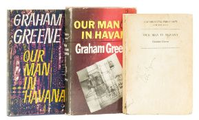 Greene (Graham) Our Man in Havana, uncorrected proof copy, 1958; and 2 others (3)