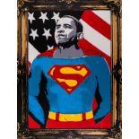 Mr Brainwash (b.1966) Obama Superman (Gold)