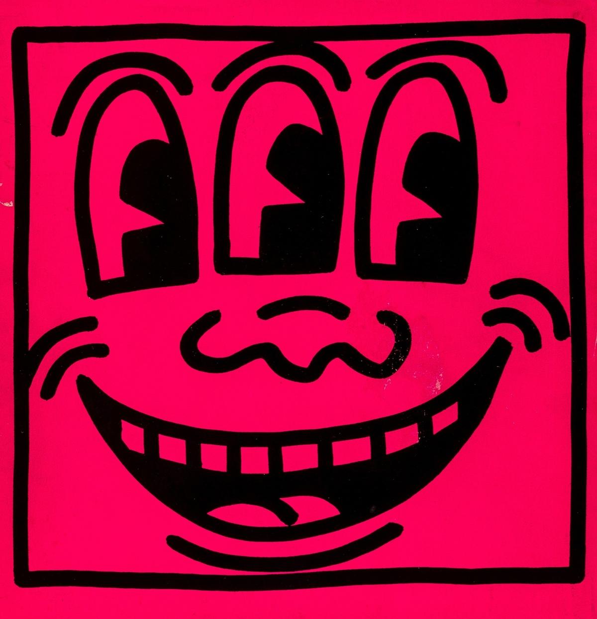 Keith Haring (1958-1990) Three Eyes