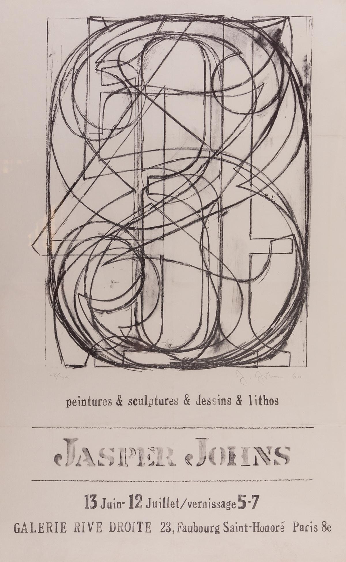 Jasper Johns (b.1930) Jasper Johns: Peintures & Sculptures & Dessins & Lithos for Galerie Rive …