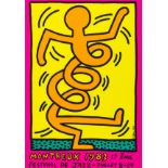 Keith Haring (1958-1990) Montreux 1983 Pink, Green and Yellow (Döring & Osten 8, 9, 10)