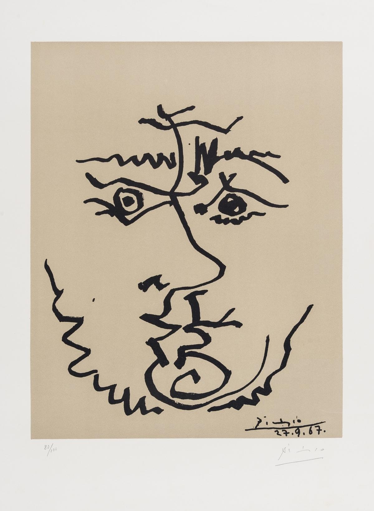 Pablo Picasso (1881-1973) (after) Visage