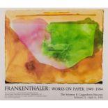 Helen Frankenthaler (1928-2011) Helen Frankenthaler exhibition posters