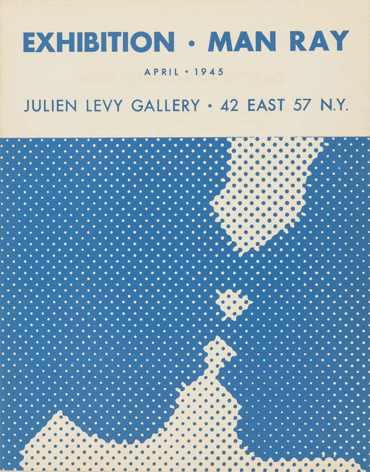 Marcel Duchamp (1887-1968) Brochure for the Julien Levy Gallery Exhibition Man Ray April 1945