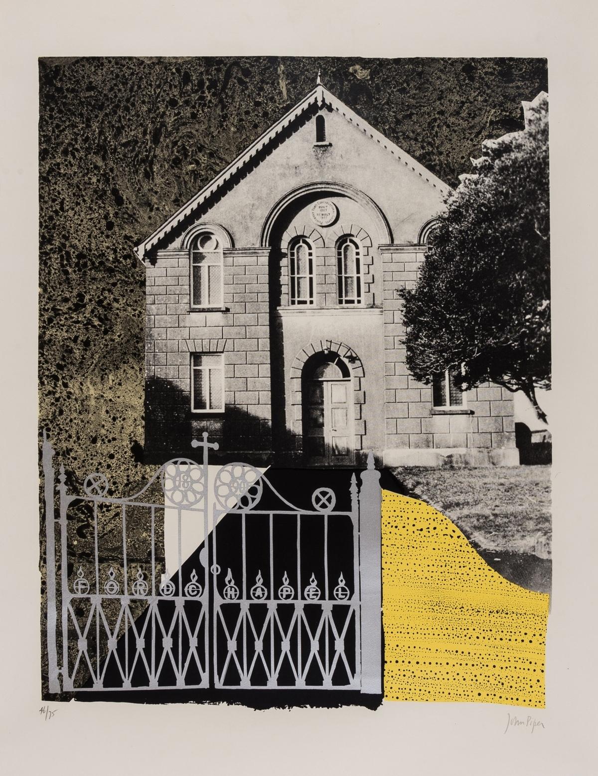 John Piper (1903-1992) Penybont Ford Congregational Church (Levinson 176)
