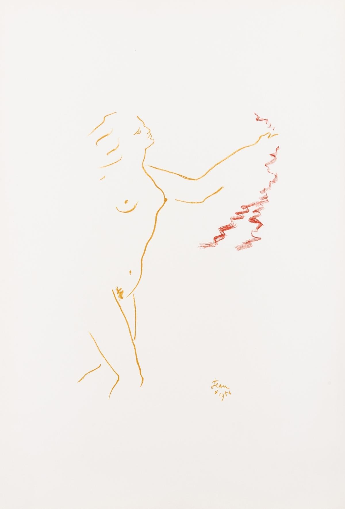Jean Cocteau (1889-1963) Nu au Voile