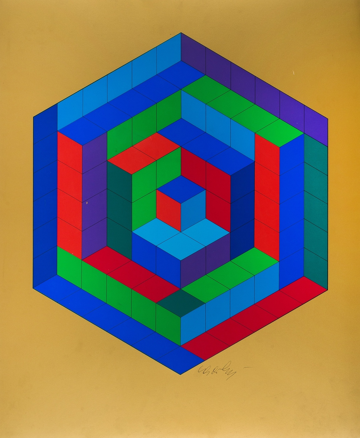Victor Vasarely (1906-1997) Sin-Hat-A - Réponses à Vasarely