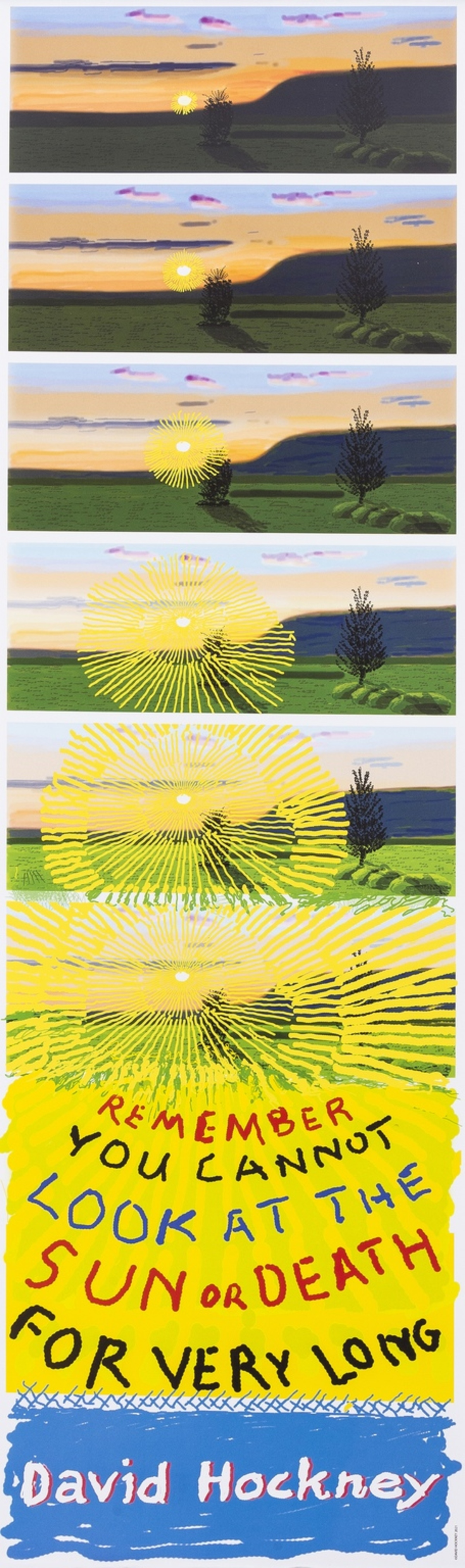 David Hockney (b.1937) Remember That You Cannot Look At The Sun Or Death Very Long