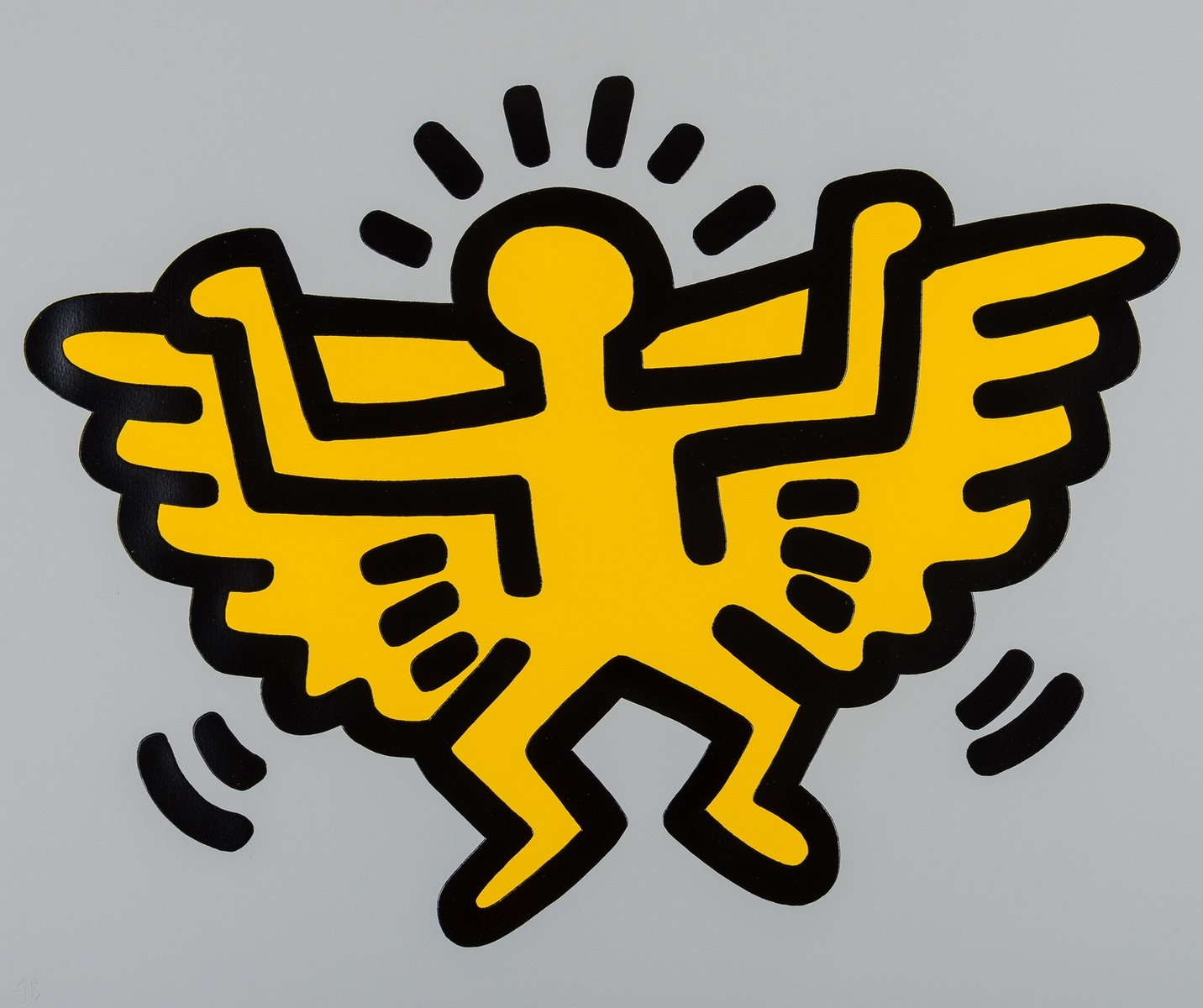 Keith Haring (1958-1990) Icons. Angel (See Litmann p.171)