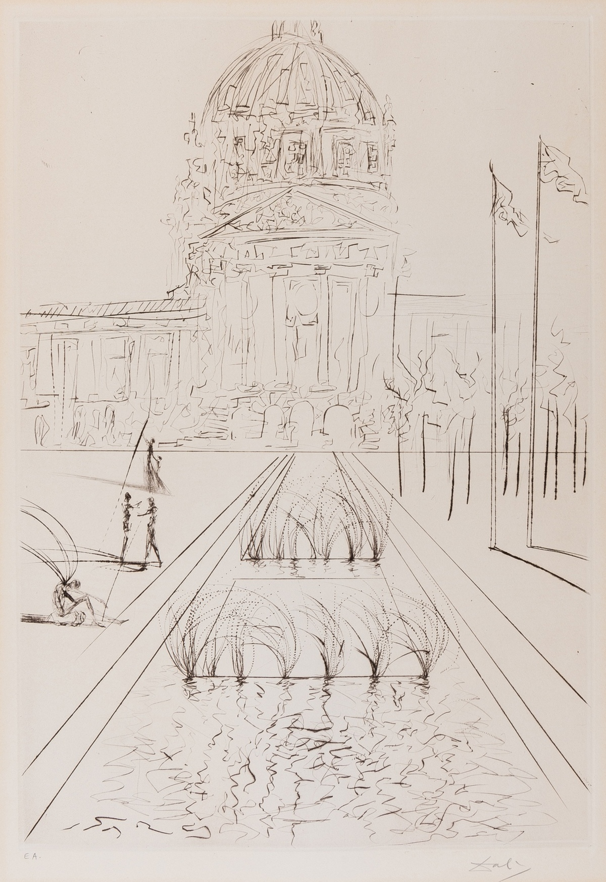 Salvador Dalí (1904-1989) San Francisco. City Hall (Field 70-4-A)