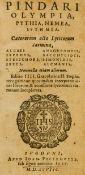Pindar. Olympia, Pythia, Nemea, Isthmia. Caeterorum octo Lyricorum carmina... Editio IIII, Lyon, …