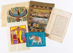 Shahnameh (Book of Kings).- Single leaf from the Shahnameh, manuscript in Arabic, on paper, within …