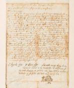 Jacobean Petition.- Middlesex (Lionel Cranfield, first Earl of Middlesex) & Sir Robert Pye.- …