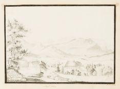 "Grand Tour Album.- Album of manuscripts, drawings and engravings, including: drawings: ""Mont …"