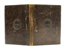 17th century binding, original calf, blind stamp of coat of arms of Richard Townley on both …