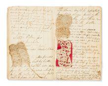 Lace.- Gill (Jemima) Volume of lace patterns, manuscript, 10 original lace samples, original …