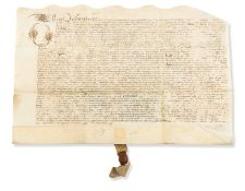 Worcestershire, Feckenham.- Indenture, bargain and sale of the Lord of the Manor of Feckenham by …