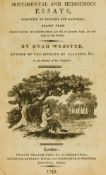 American author.- Webster (Noah) Sentimental and humourous essays, conducive to economy and …