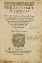 ?Family copy.- Bell (Thomas) The Anatomie of Popish Tyrannie, first edition, Printed by John …