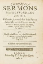 Howson (John) Certaine Sermons Made in Oxford, Anno Dom. 1616, first edition, Printed by T. S. for …