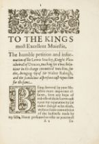 Raleigh's jailer and Guradian of Pocahontas' infant son.- Stucley (Sir Lewis) To the Kings most …