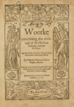 """""""The Huguenot Pope"""".- Mornay (Phillippe de) A Woorke concerning the trewnesse of the Christian …"""