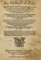 Law.- Fulton (Ferdinando) An Abstract of all the penal Statutes which be general, in force and …