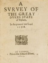 Italy.- [Dallington (Sir Robert)] A Survey of the Great Dukes State of Tuscany. A Survey of the …