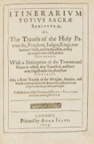 Holy Land.- Bünting (Heinrich) Itinerarium totius Sacrae Scripturae. Or, The Travels of the Holy …