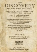 Rainolds (John) The Discovery of the Man of Sinne, first edition, Oxford, Printed by Joseph …