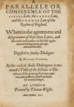 Law.- Fulbecke (William) Parallele or Conference of the Civil Law, the Canon Law, and the Common …
