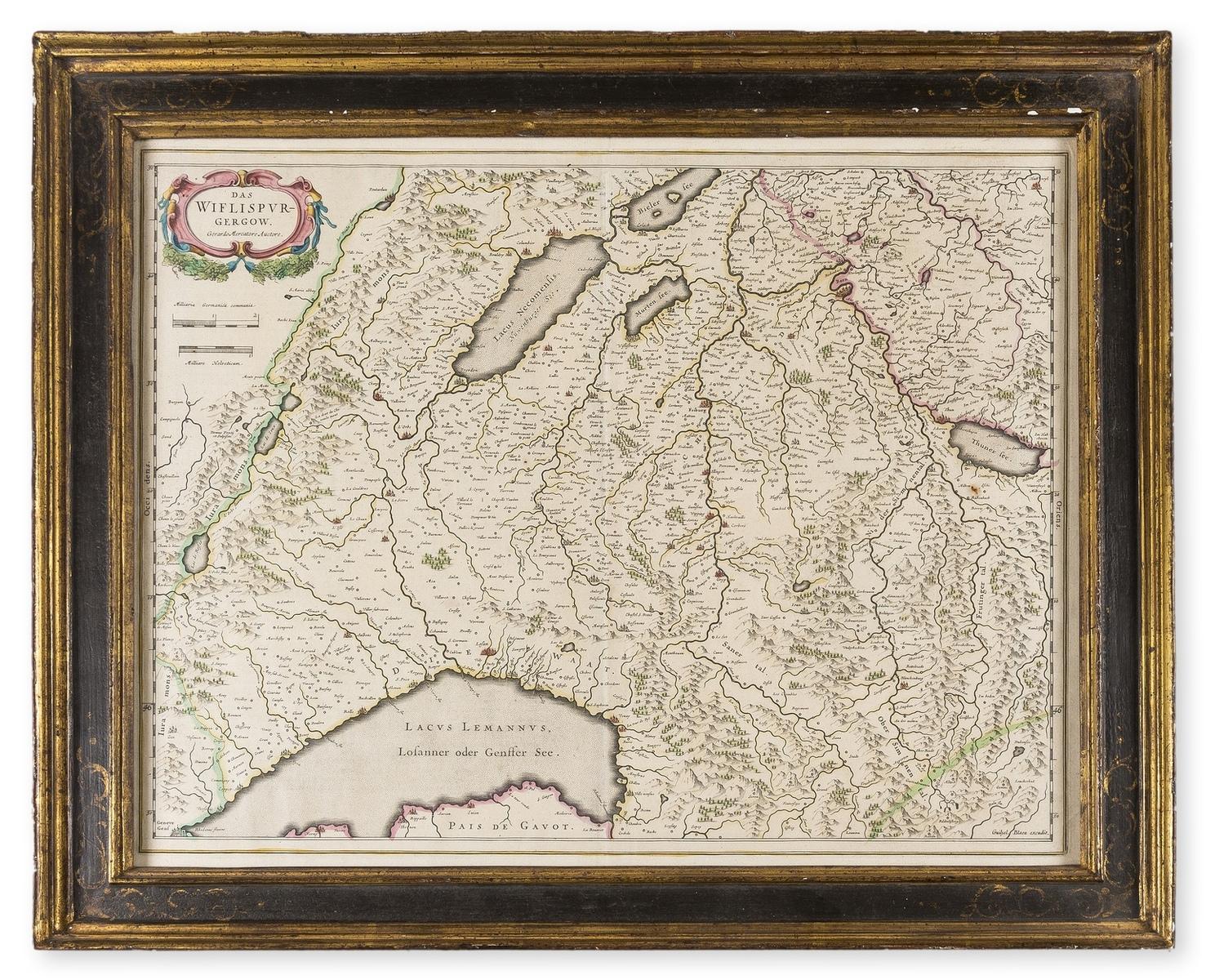 Switzerland.- Blaeu (Willem Jansz.) Das Wiflispurgergow [1687]