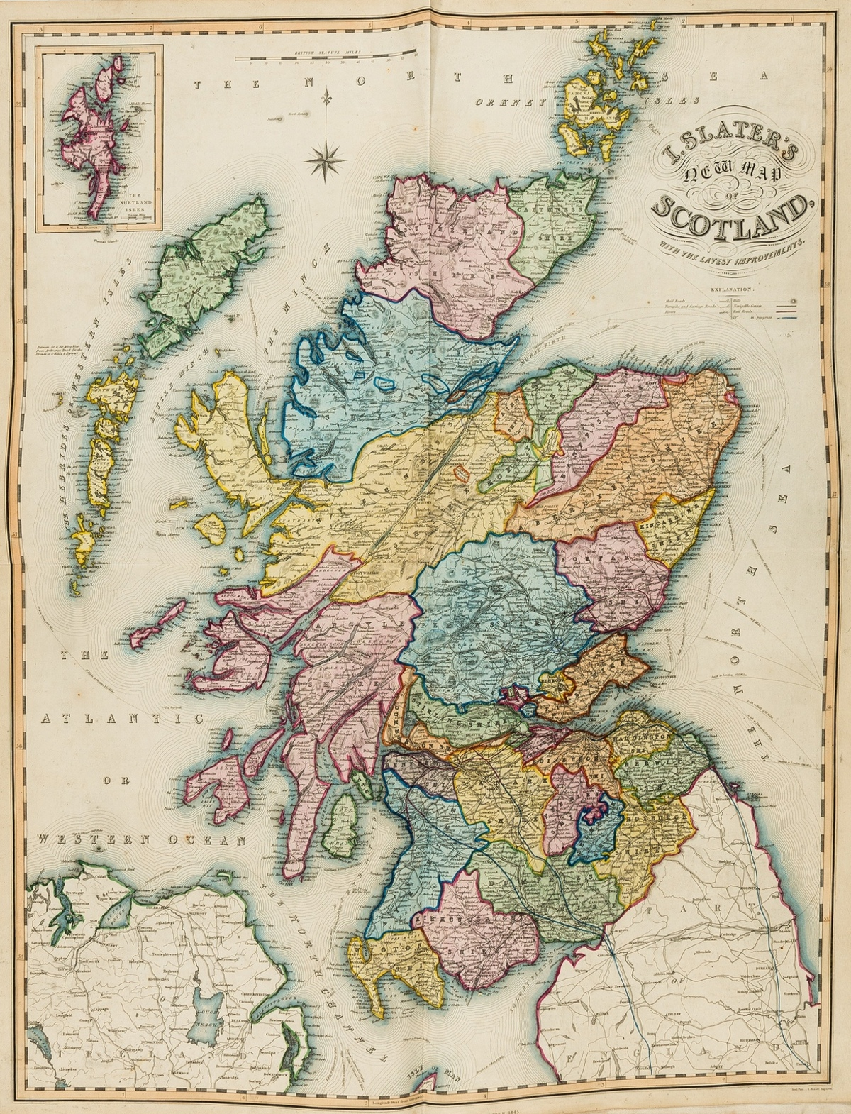 Britain.- Slater (Isaac, publisher) Slater's New British Atlas, comprising the Counties of England …
