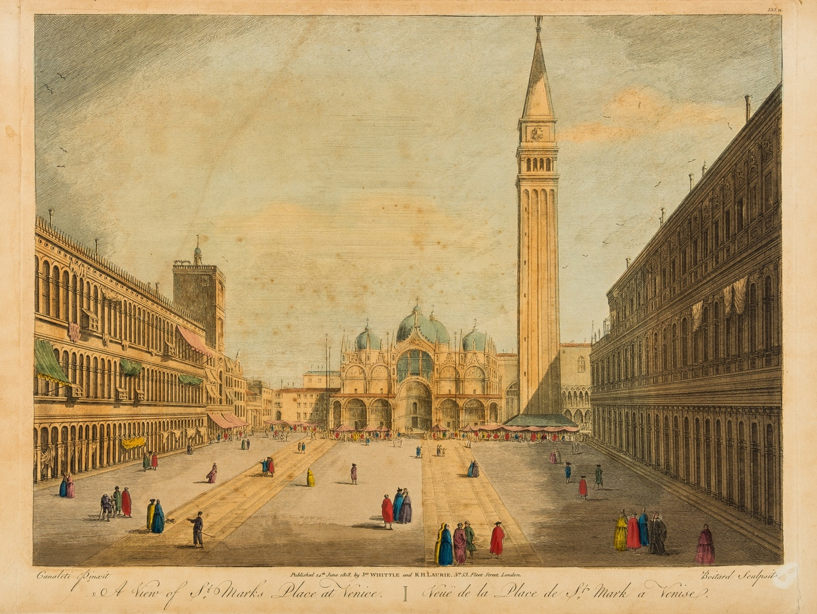 Italy.- Vues d'optique.- Six views of Venice and Florence, after Canaletto and Zocchi, [c. … - Image 2 of 2