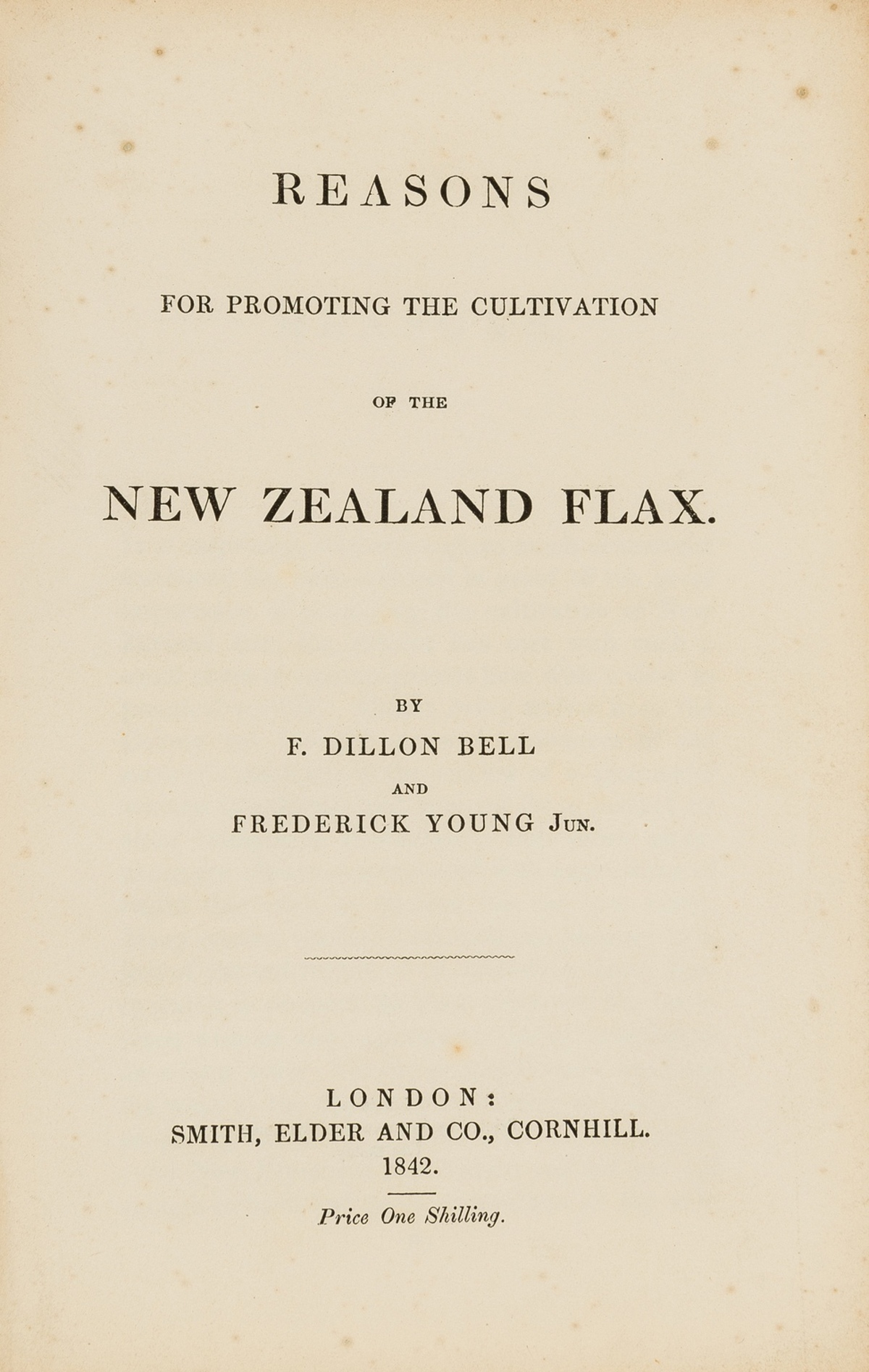 Australasia.- Bell (F.Dillon) & Frederick Young, Jun. Reasons for Promoting the Cultivation of the …
