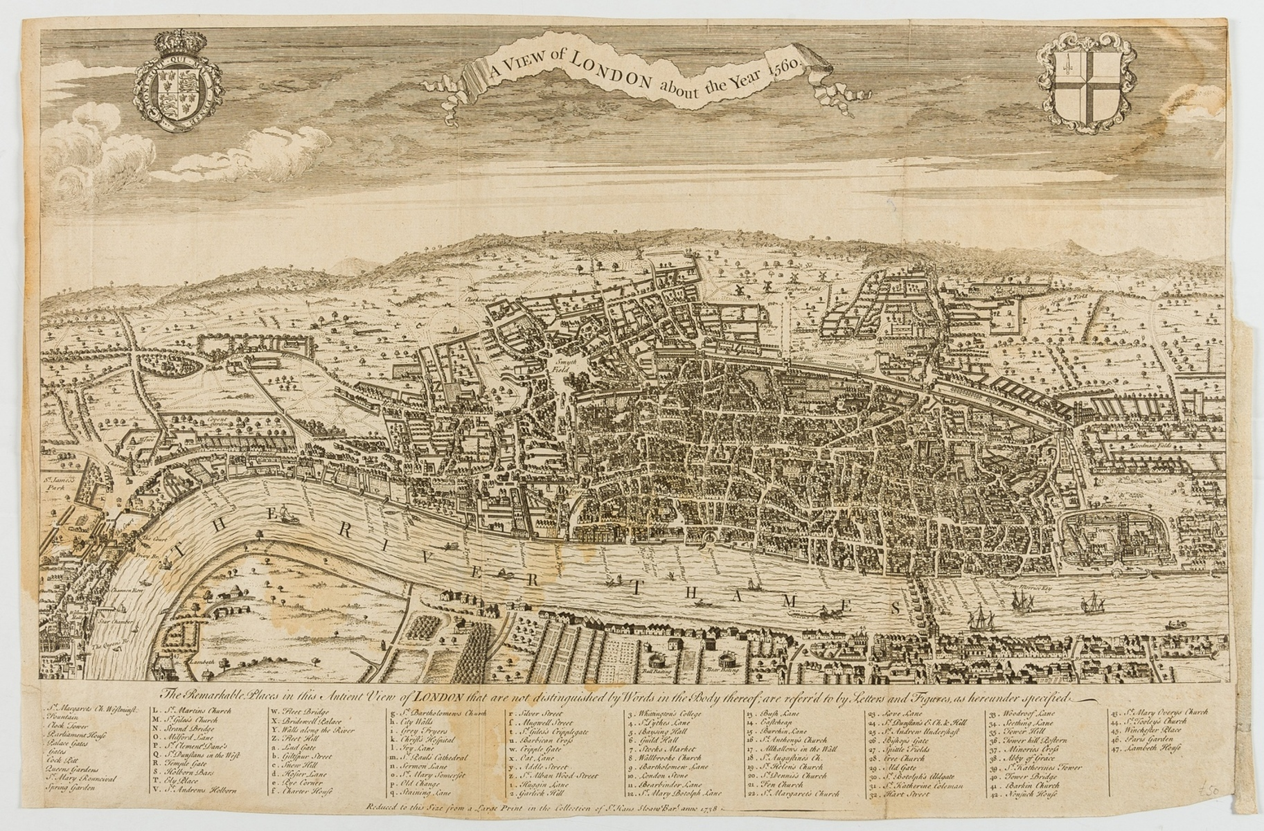 London.- Maitland (William) A View of London about the Year 1560, engraving, 1738; and two others …