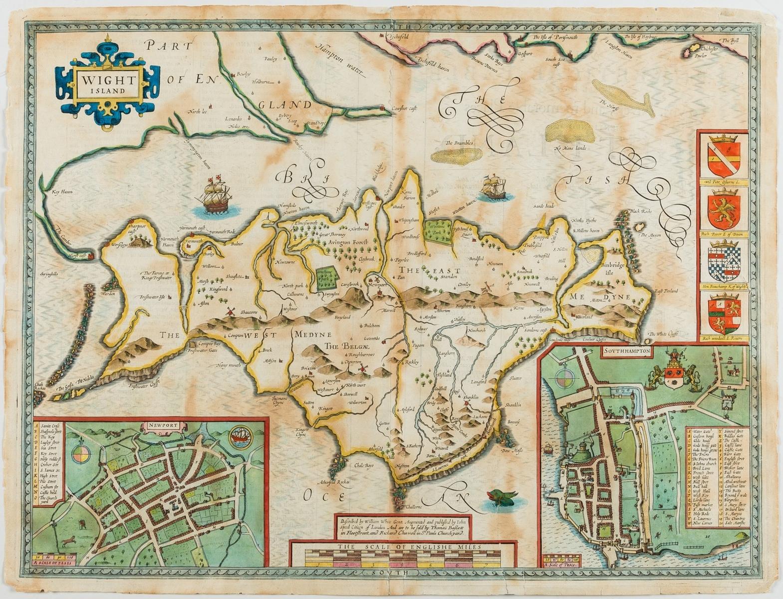 Isle of Wight.- Speed (John) Wight Island, [c. 1676].