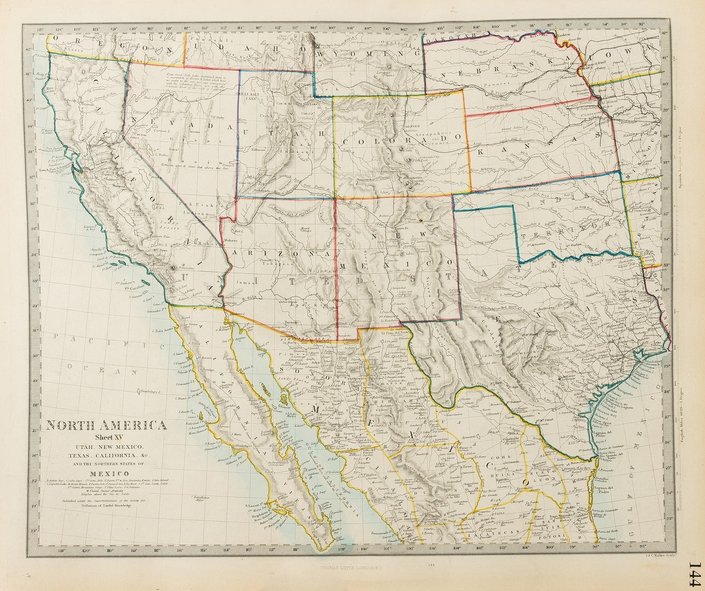 Atlases.- SDUK. Complete atlas of modern, classical and celestial maps together with plans of the …