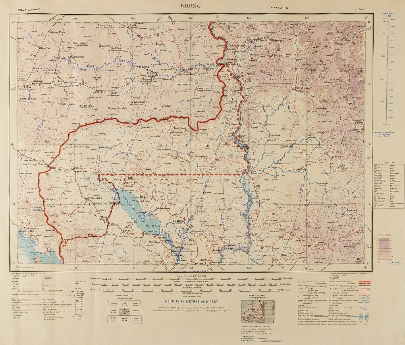 Asia.- National Geograpic (Soc.) Southwest Asia, India, Pakistan, And Northeast Africa, [c. 1952]; …