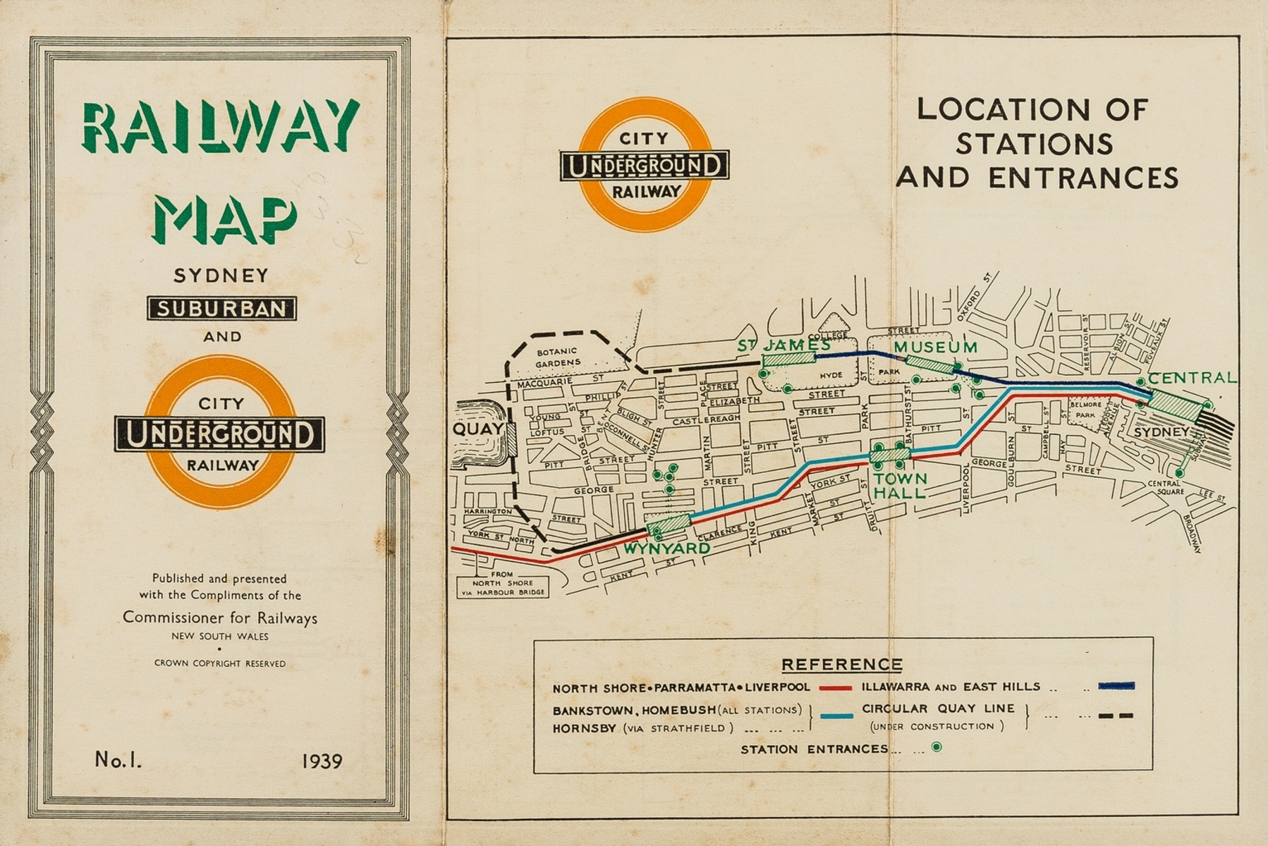 Australia.- Harry Beck London Underground variant.- Commissioner for Railways (New South Wales) … - Image 2 of 2