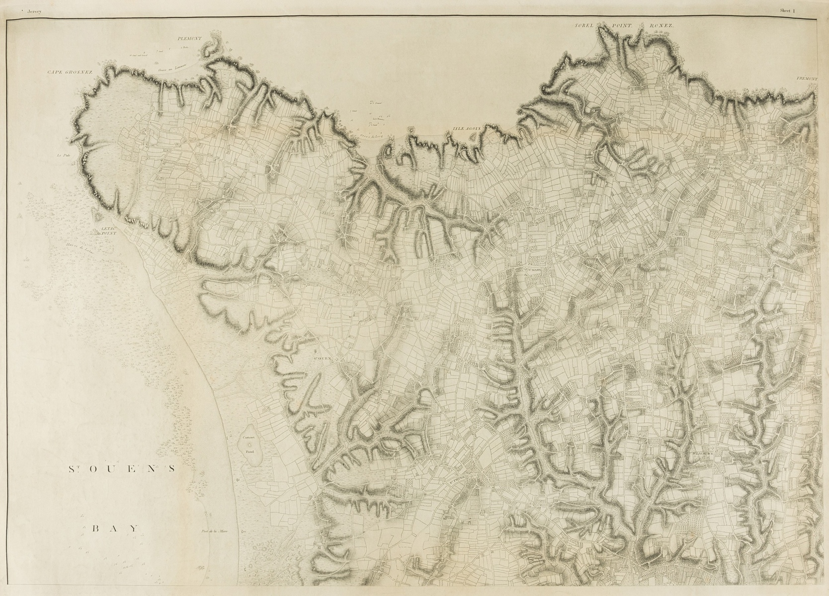 Jersey.- [Survey of the Island of Jersey, taken by order of his Grace the Duke of Richmond, …