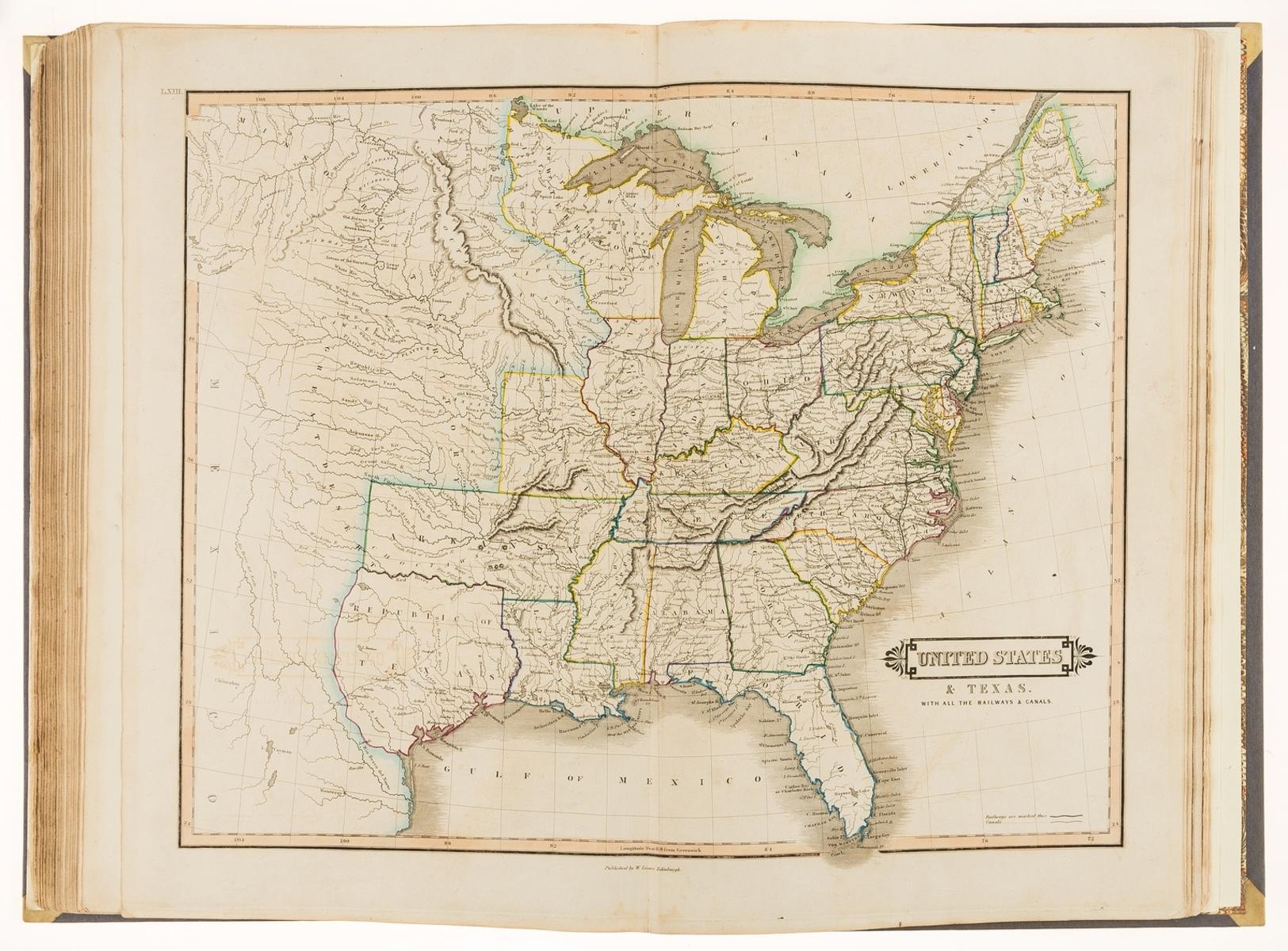 Atlases.- Lizars (Daniel) Lizars' Edinburgh Geographical General Atlas, [1842].
