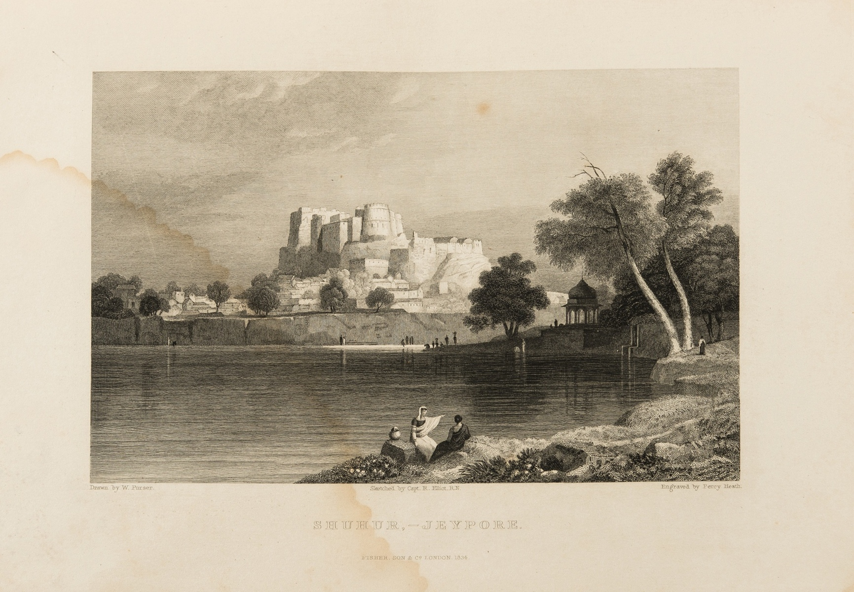 India.- Elliot (Capt. Robert) Views in India, China, and on the Shores of the Red Sea, 2 vol. in …