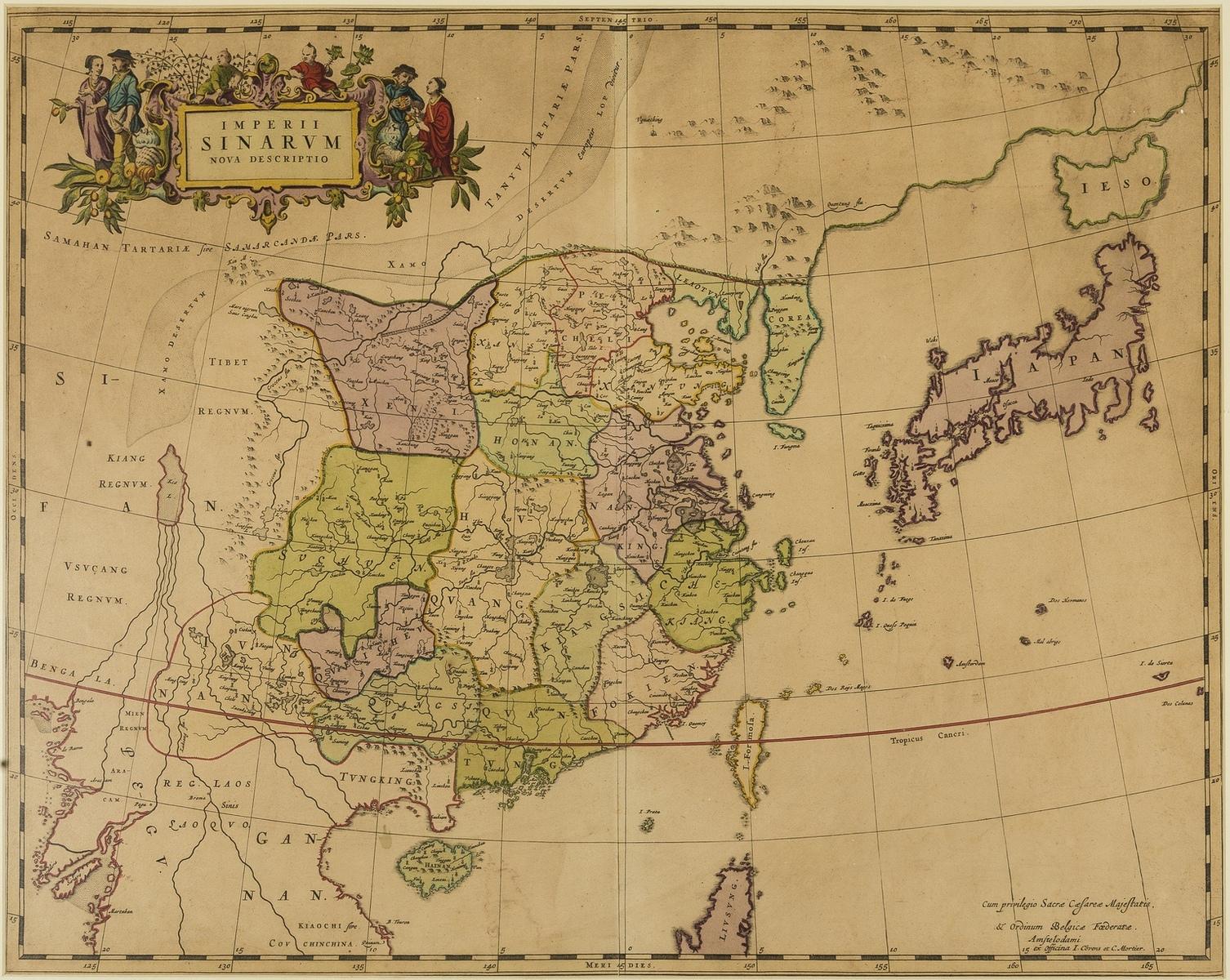 China and Japan.- Covens & Mortier (Publishers) Imperii Sinarum Nova Descriptio, [circa 1695].